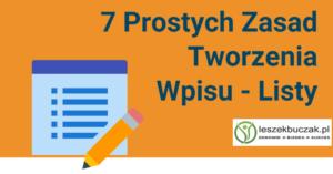 7 Porad Jak Stworzyć Pierwszy Wpis Typu Lista – s006