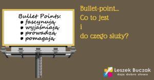Co to jest bullet-point i do czego służy?