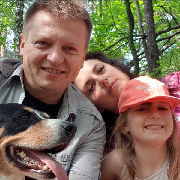 Leszek Buczak z rodzina