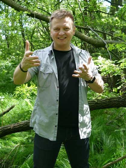 Leszek Buczak o mnie - w lesie
