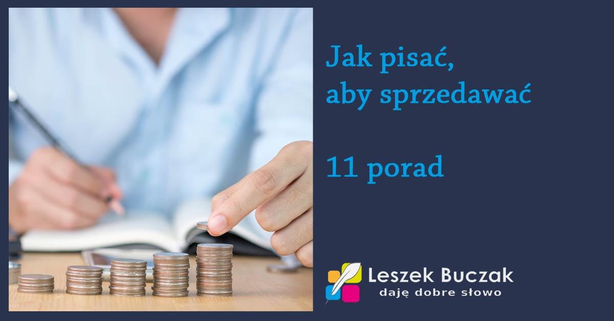 11 porad jak pisać, aby sprzedawać więcej